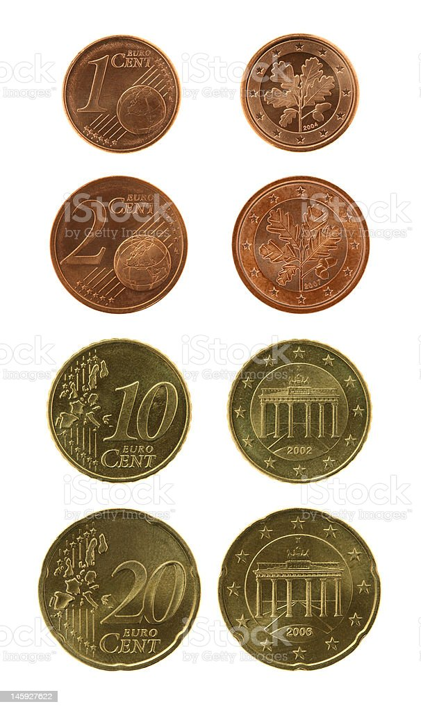 Eurocents Collection stock photo