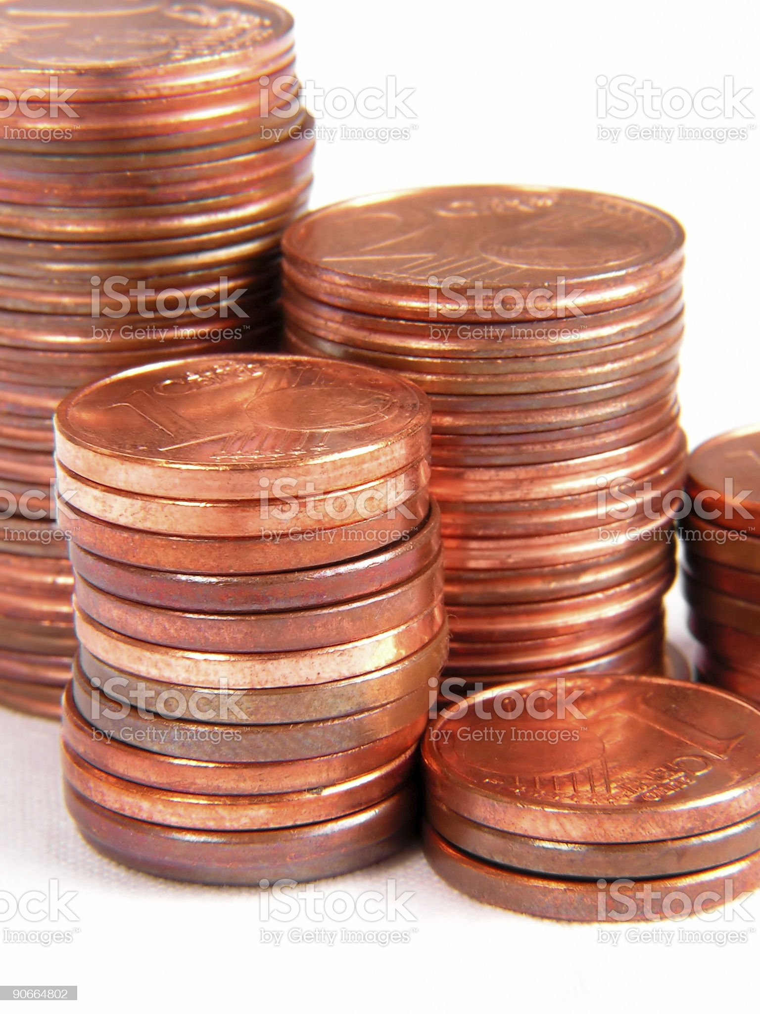 eurocents royalty-free stock photo