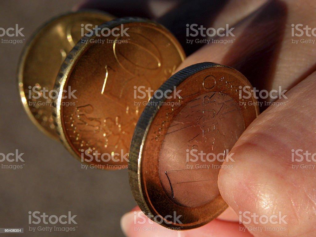Eurocoins-power of money stock photo