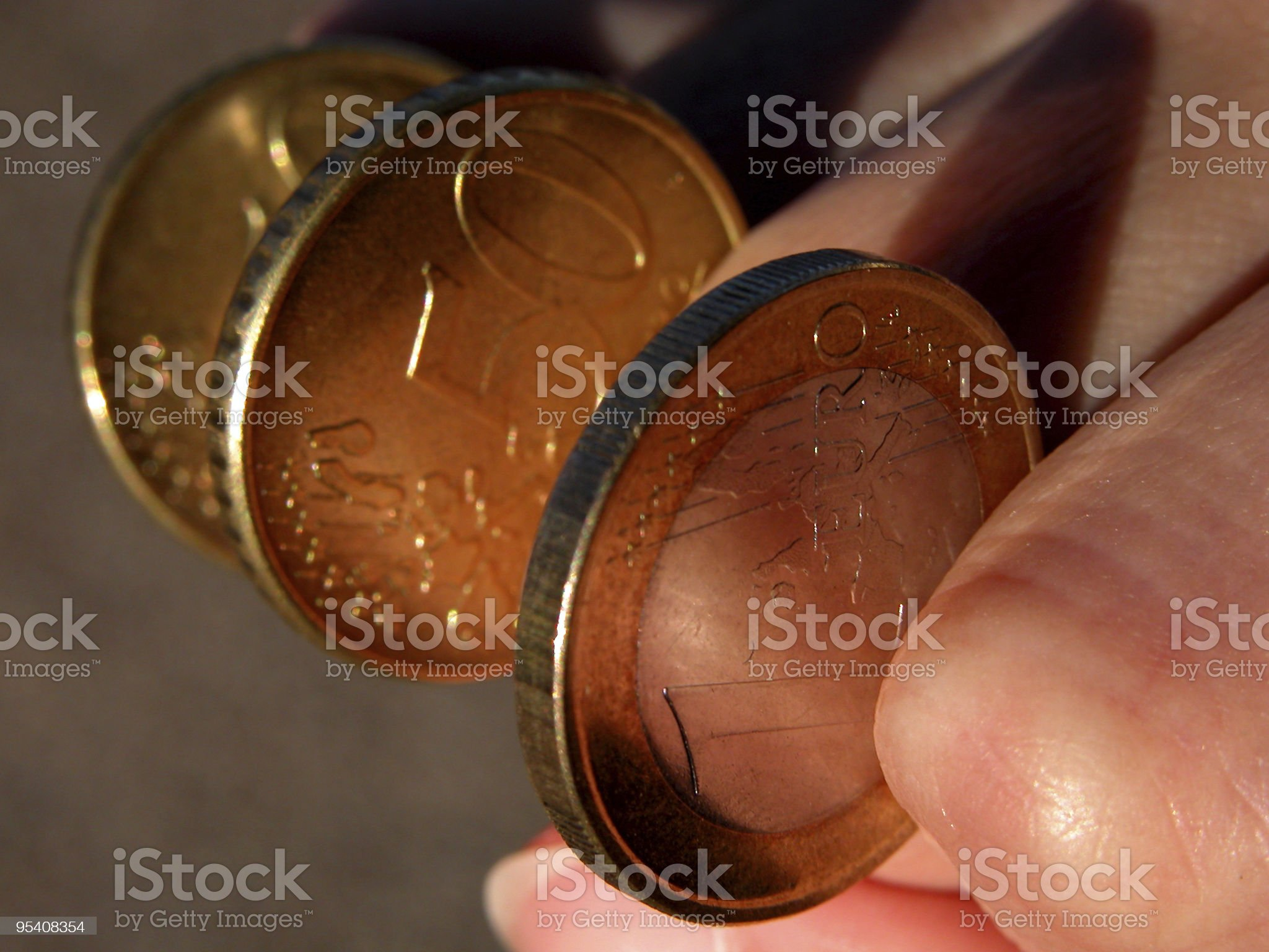 Eurocoins-power of money royalty-free stock photo