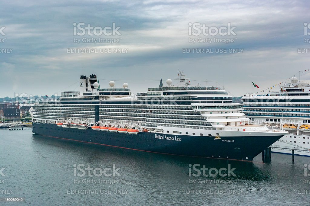 MS Eurodam cruise ship of the Holland America line stock photo