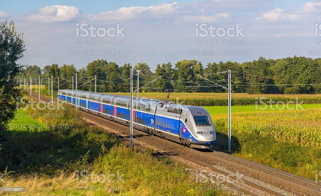 SNCF TGV Euroduplex train stock photo
