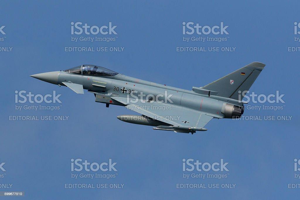 Eurofighter EF2000 Typhoon at Frisian Flag exercise stock photo