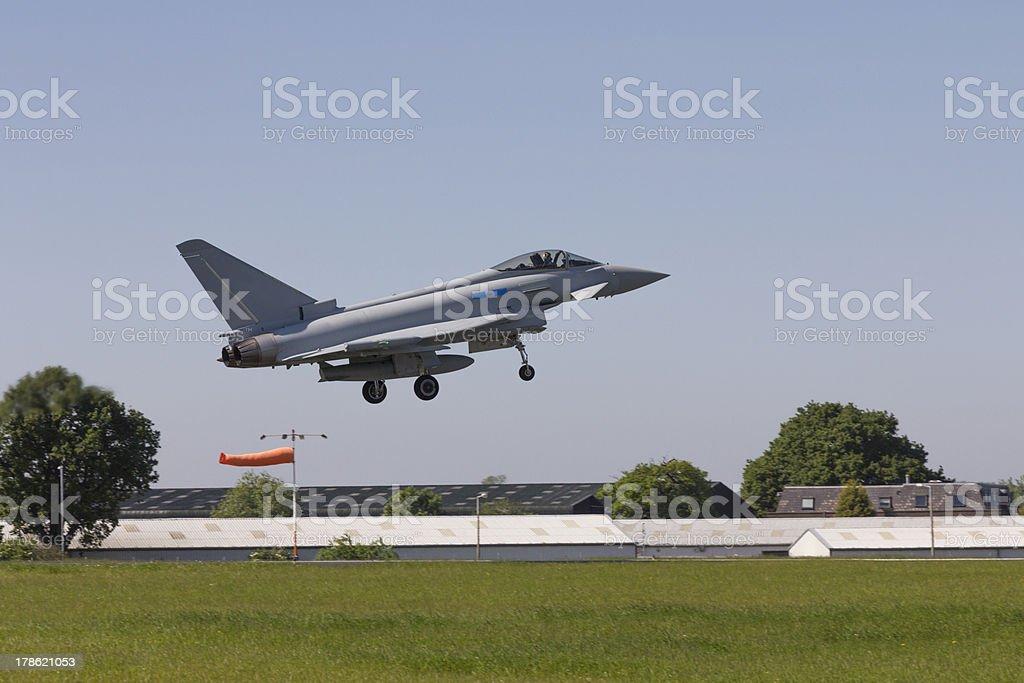 RAF Eurofighter or Typhoon landing stock photo