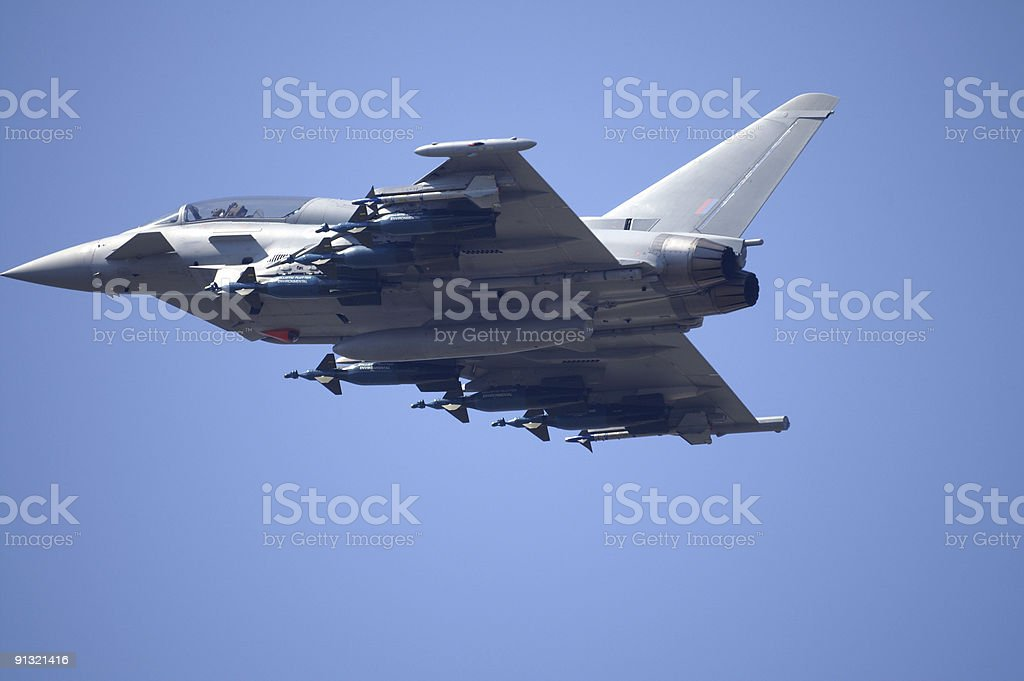 Eurofighter Typhoon fast jet in flight royalty-free stock photo