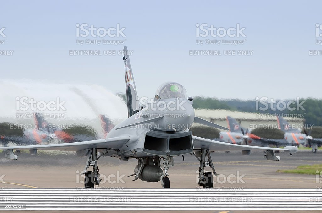 RAF Eurofighter Typhoon FGR4 stock photo