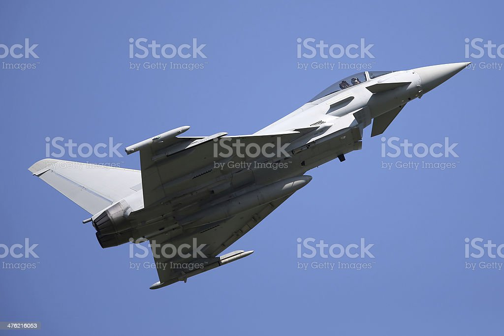 Eurofighter Typhoon Military Aircraft stock photo