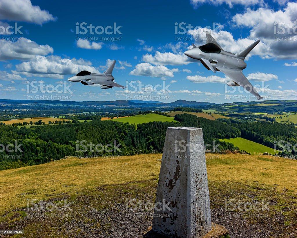 Eurofigter. stock photo