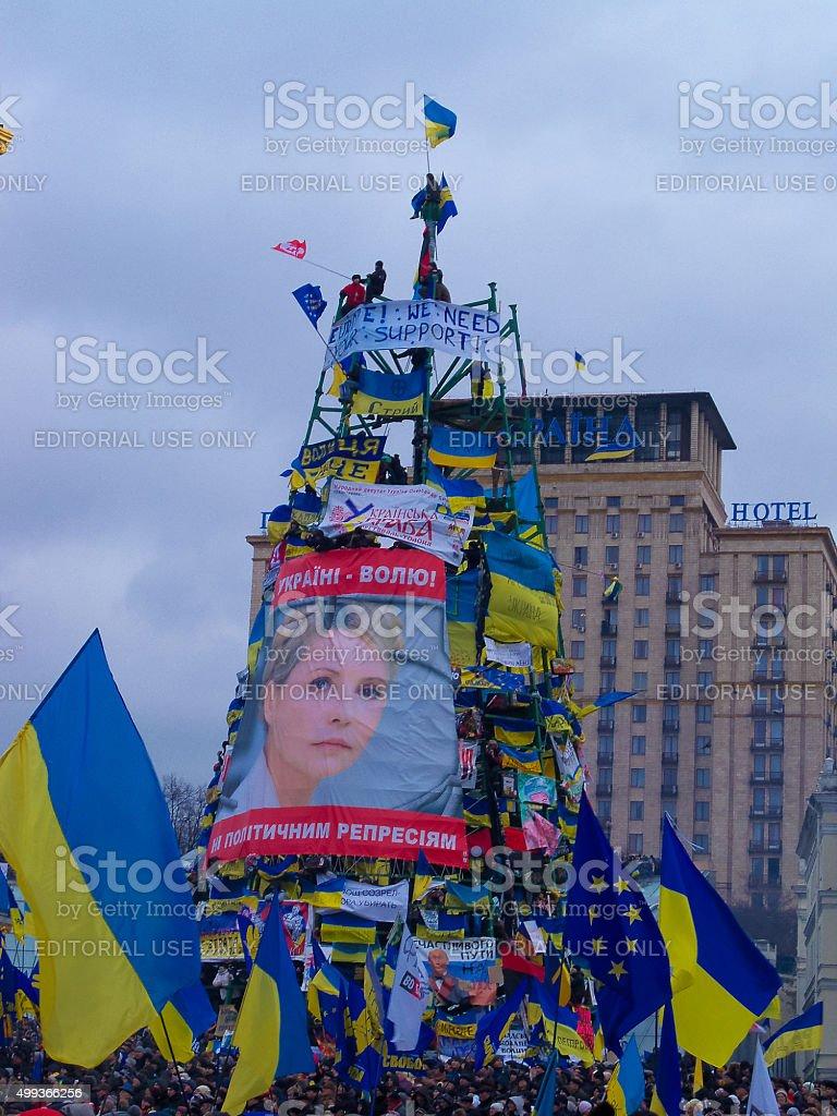 Euromaidan in the Ukrainian capital stock photo