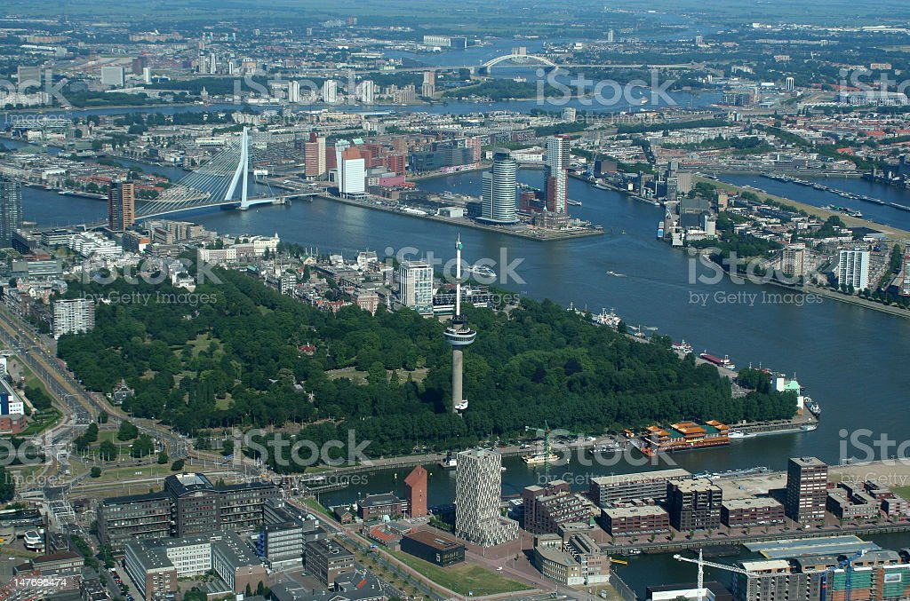 Euromast in Rotterdam stock photo