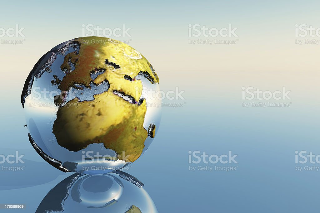 Europe and Africa royalty-free stock photo