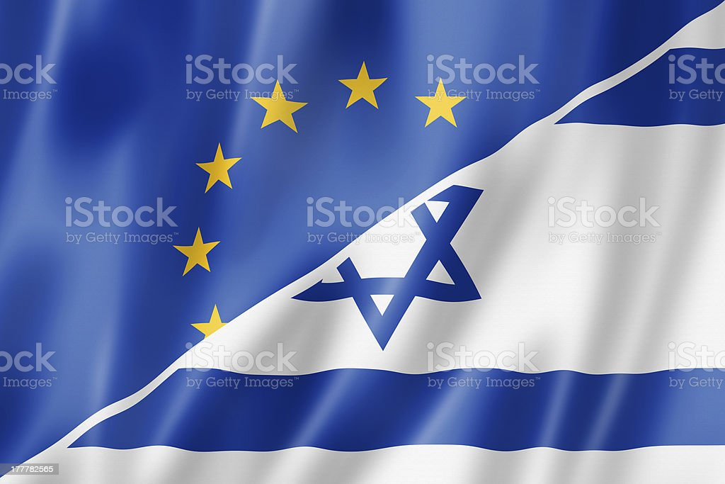 Europe and Israel flag royalty-free stock photo
