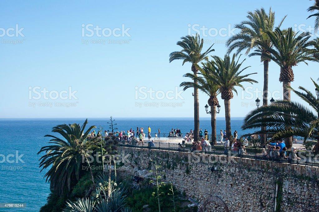 'Europe balcony' in Nerja, M?laga, Spain. stock photo