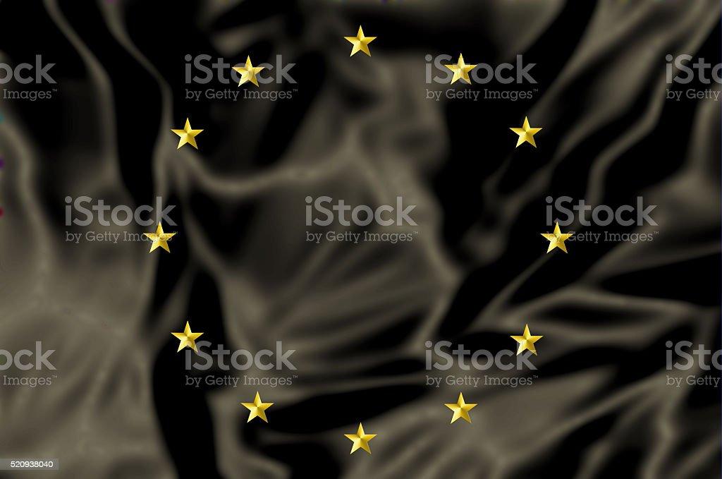 Europe black Flag stock photo