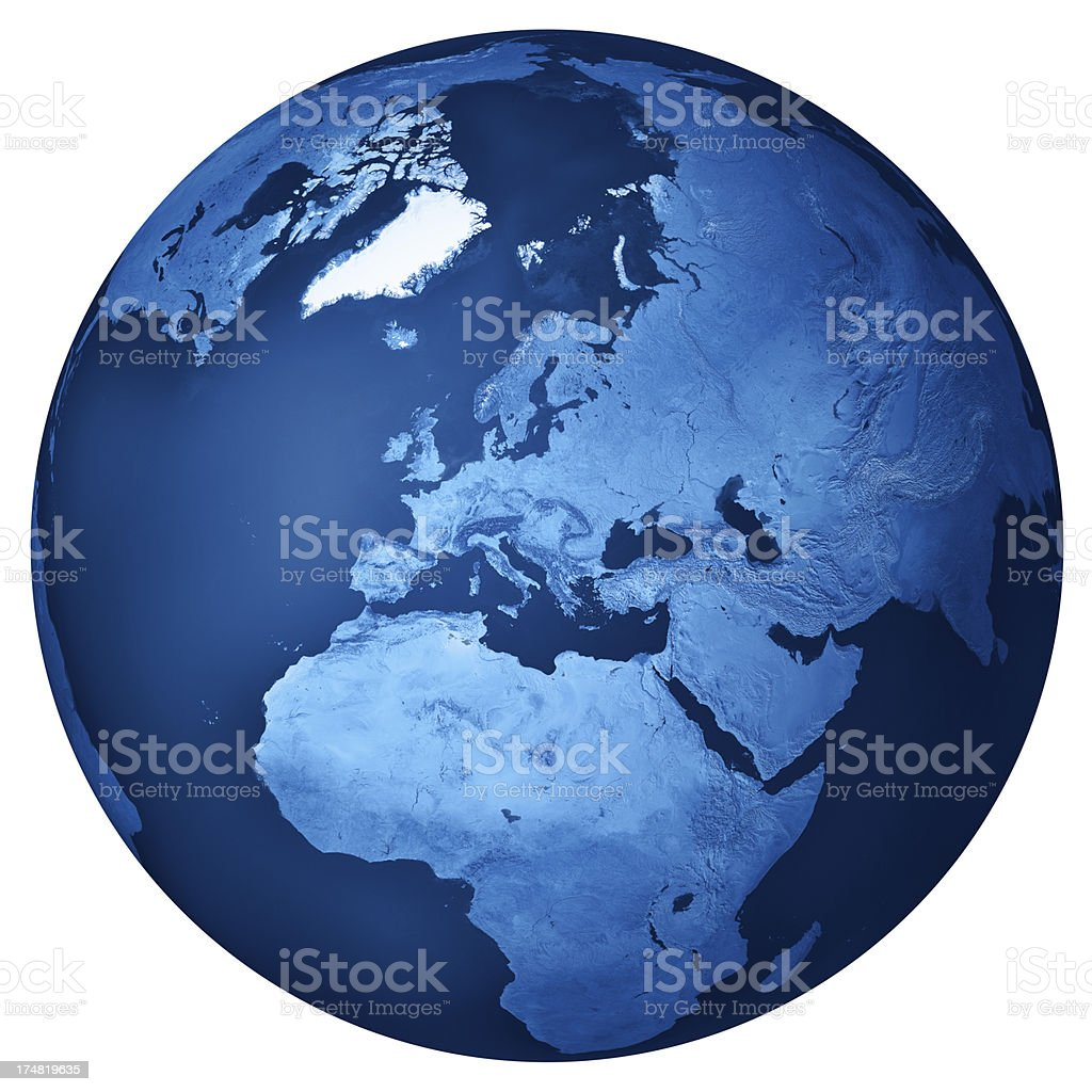 Europe Blue Planet Earth Isolated royalty-free stock photo