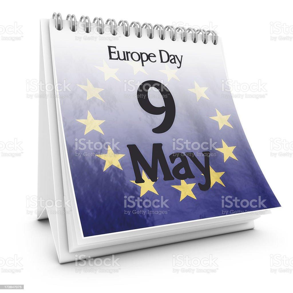 europe day calendar royalty-free stock photo
