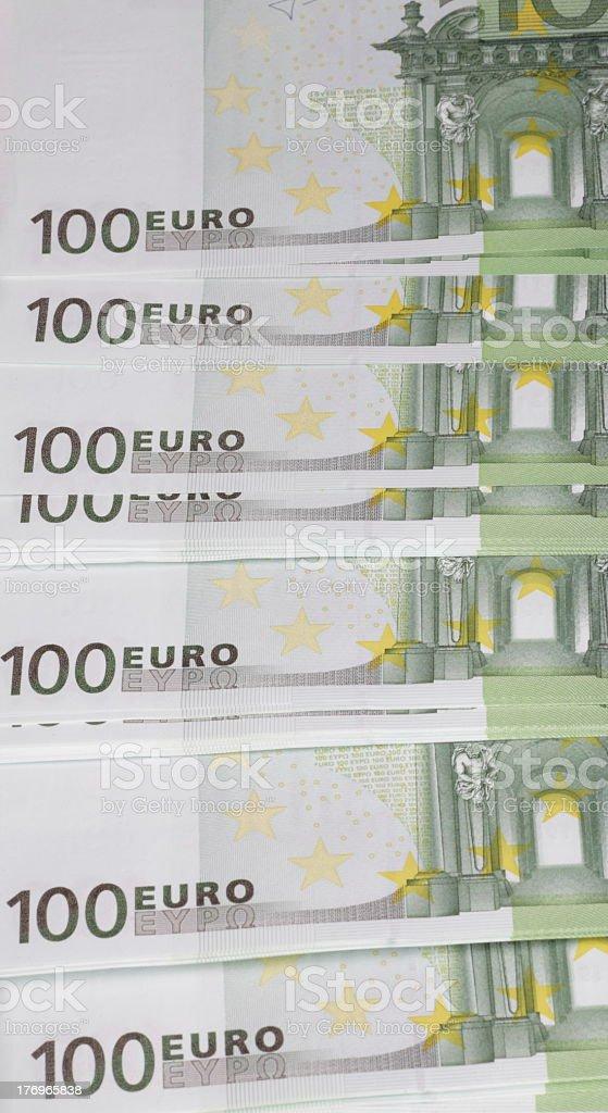 europe euros banknote of hundreds stock photo
