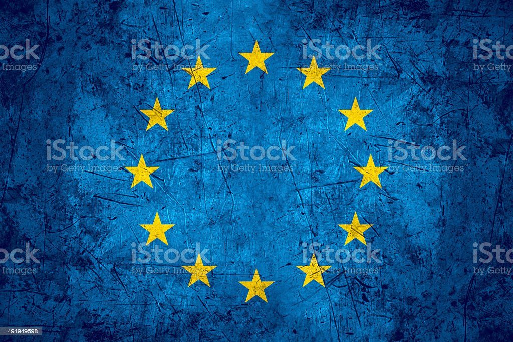 Europe flag stock photo