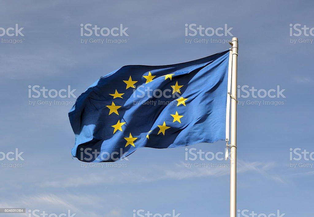 Europe Flag stock photo