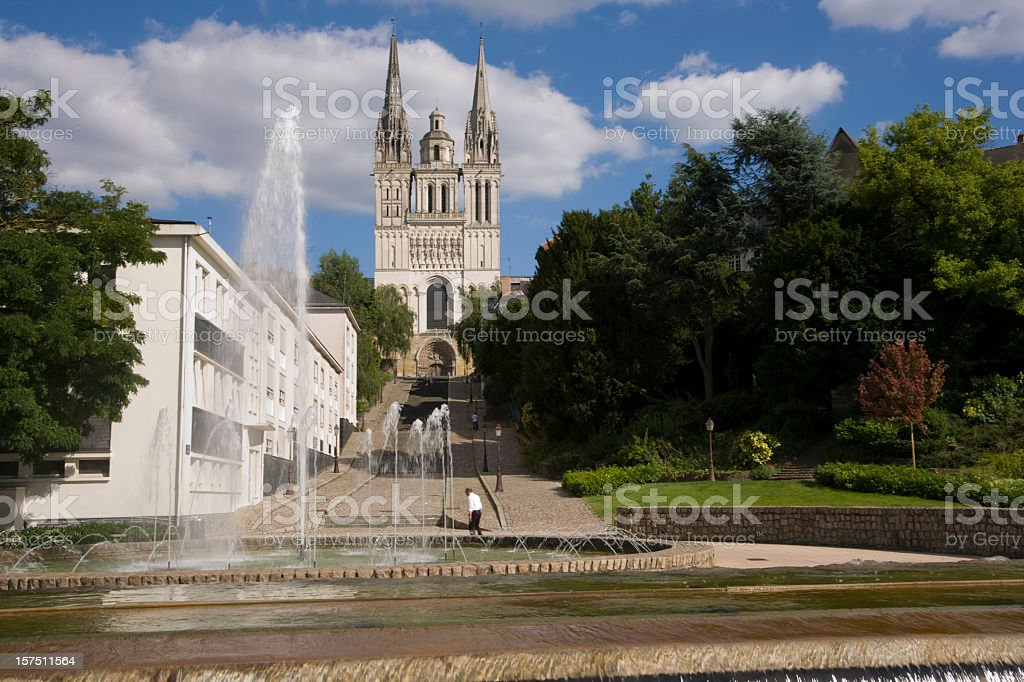 Europe, France, Maine et Loire, Angers, Cathedral St Maurice stock photo