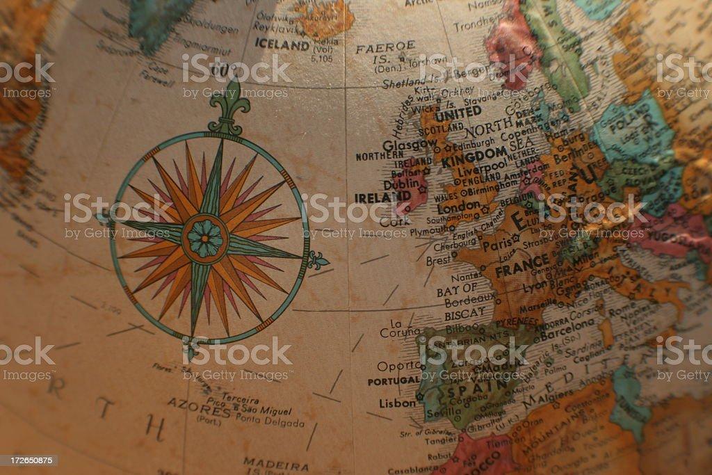 Europe globe royalty-free stock photo