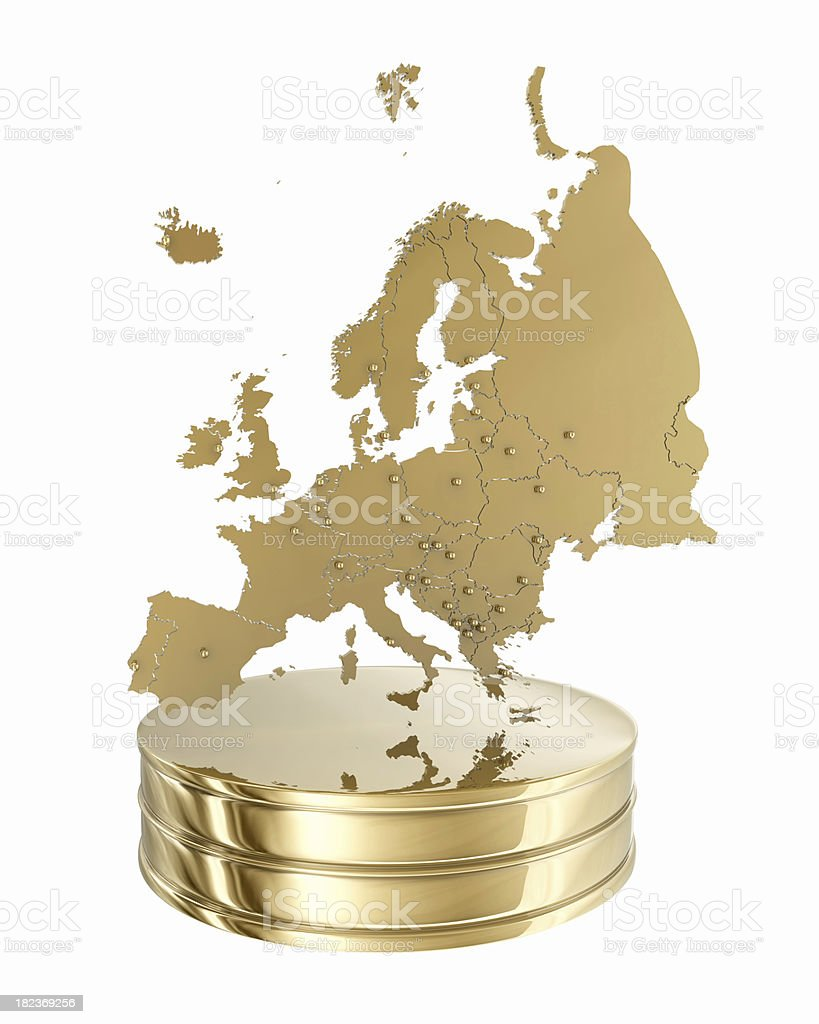 Europe Map - Gold Award royalty-free stock photo