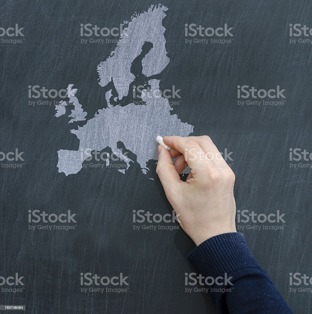 Europe map royalty-free stock photo