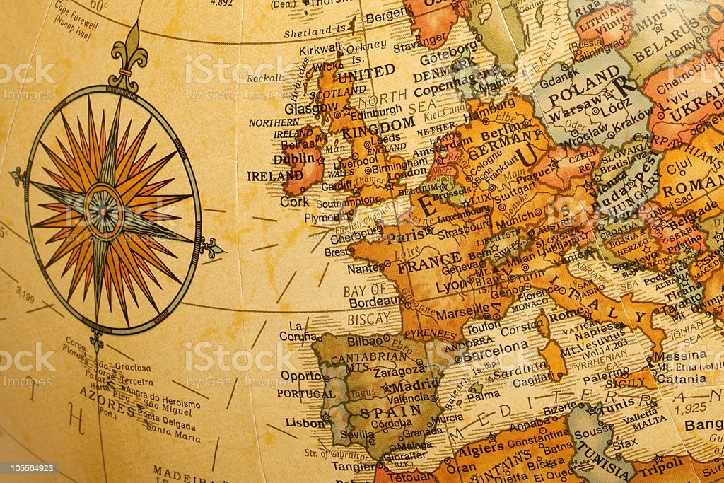 Europe on the Globe stock photo