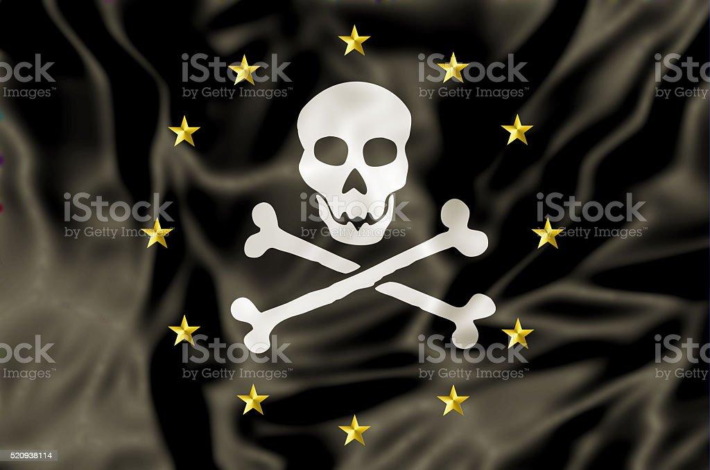Europe Pirate Flag stock photo