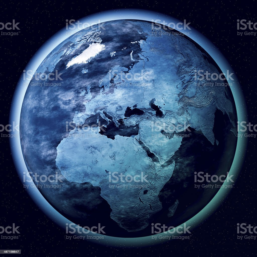 Europe Planet Earth Atmosphere Space stock photo
