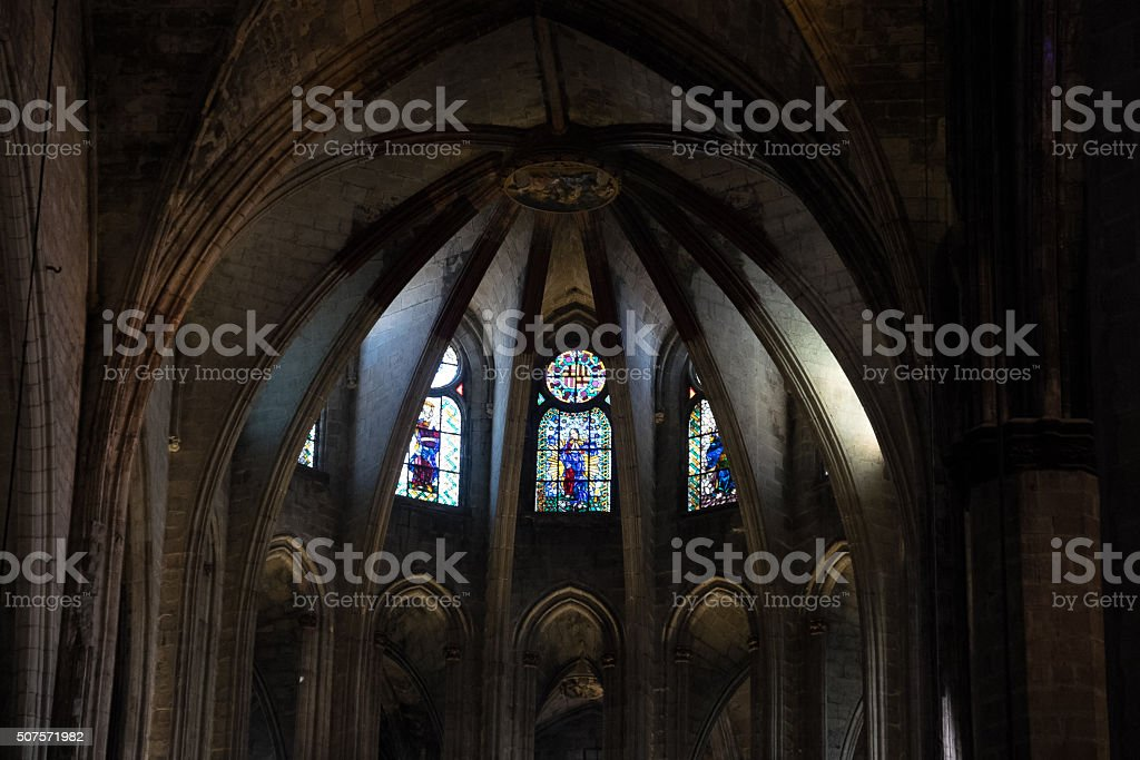 Europe, Spain, Barcelona, Sta.Maria del Mar stock photo