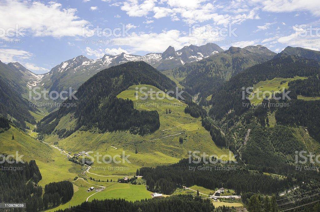 European alps at Zillertal (North Tirol) in Austria royalty-free stock photo