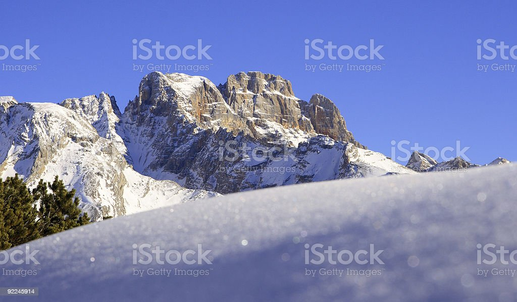 European Alps Landscape during Winter royalty-free stock photo