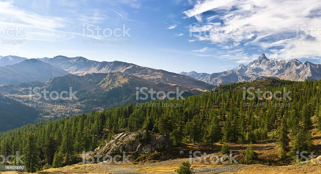 European Alps Mountain Landscape Panorma royalty-free stock photo