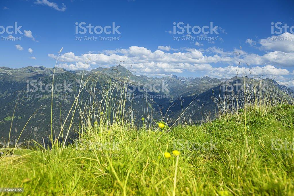 European Alps Panorama royalty-free stock photo