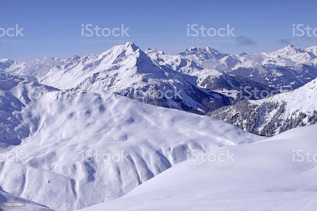 European Alps royalty-free stock photo