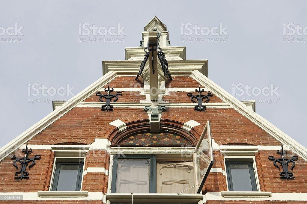 European architecture - Dutch houses royalty-free stock photo