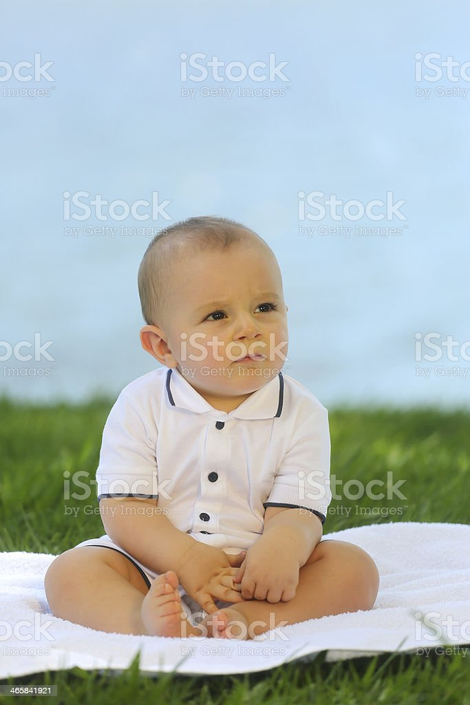 European baby - 10 month old royalty-free stock photo