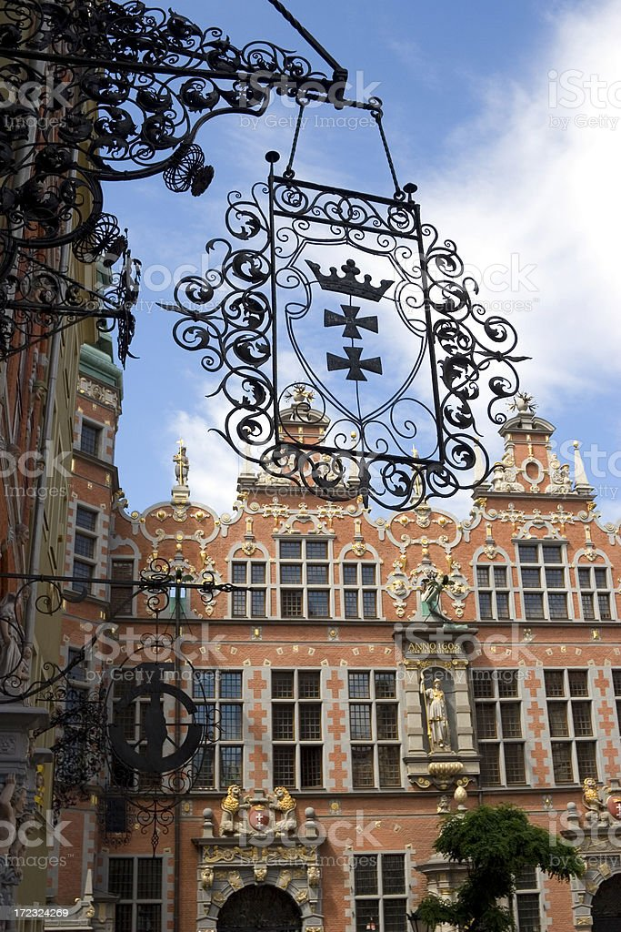 European baroque architecture stock photo