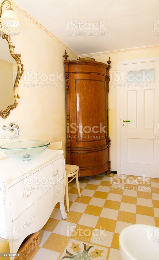European Bath Both Modern and Antique stock photo