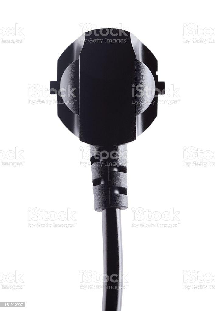 European black plug on white royalty-free stock photo