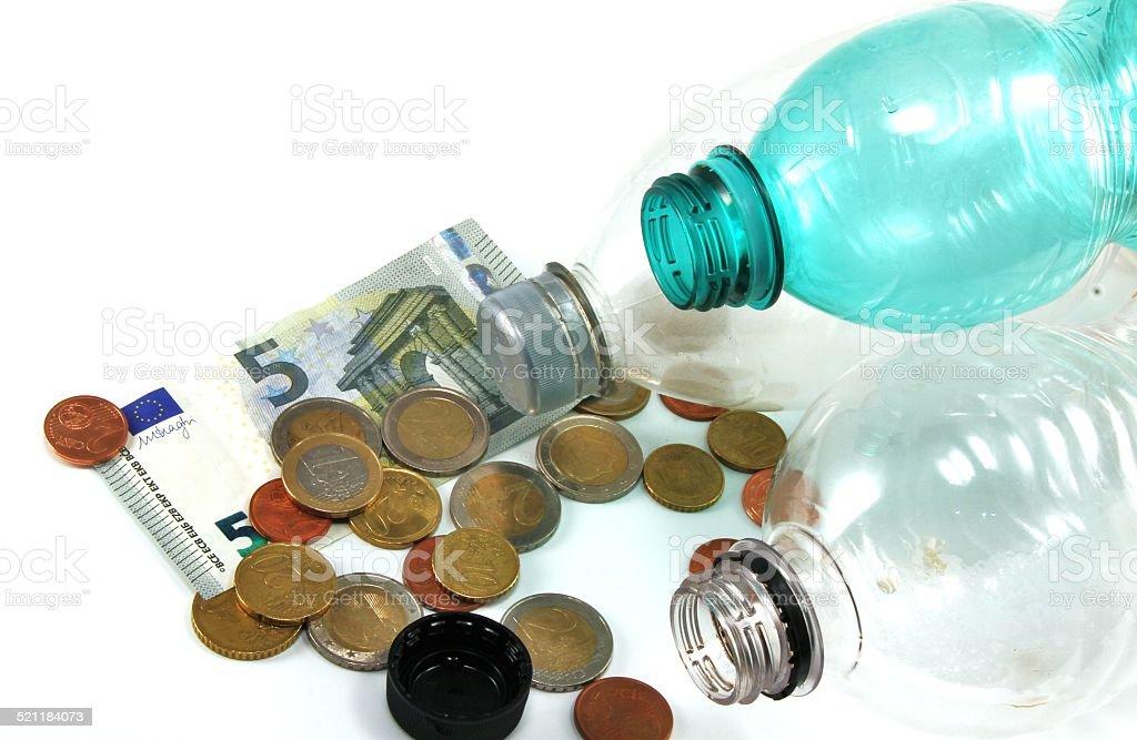 european bottle deposit stock photo