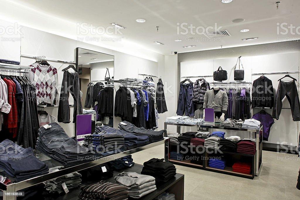 european brand new clothes shop royalty-free stock photo
