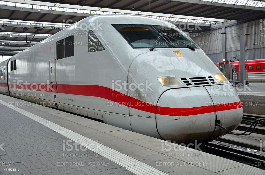 European bullet train at station royalty-free stock photo