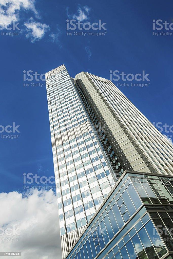 European Central Bank building, Frankfurt am Main, Germany royalty-free stock photo