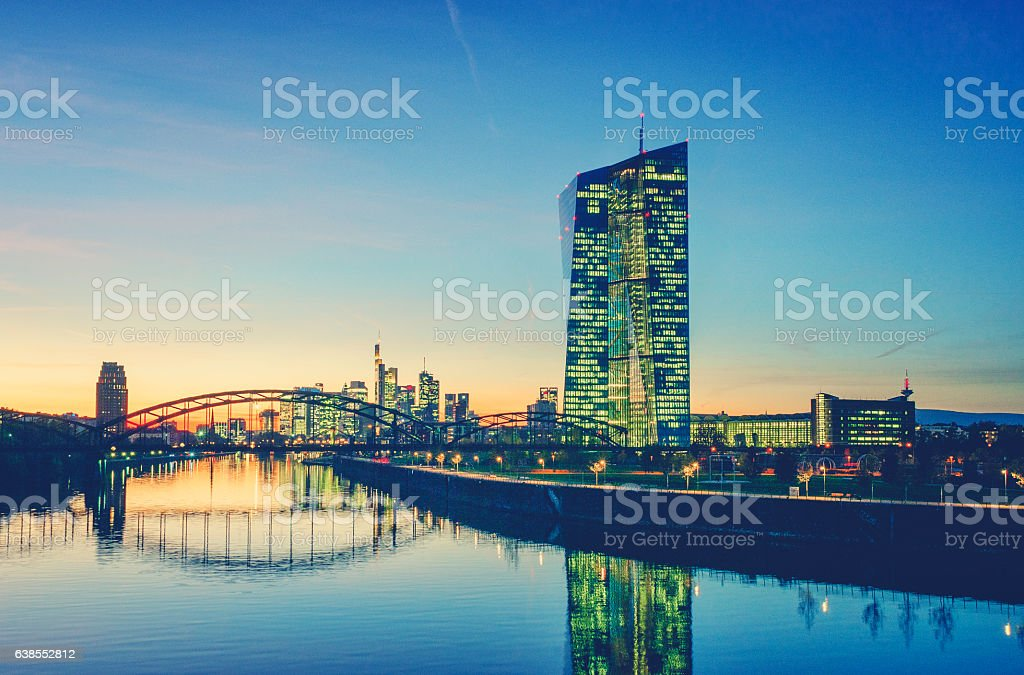 European Central Bank Building in Frankfurt am Main stock photo