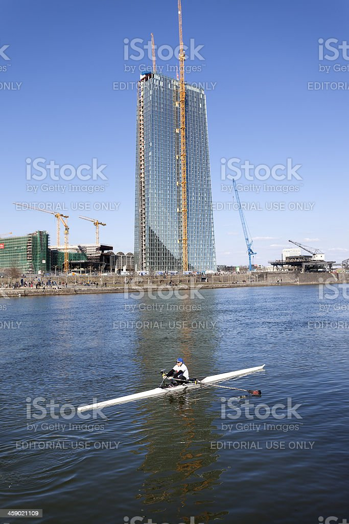 ECB, European Central Bank Frankfurt - construction site royalty-free stock photo