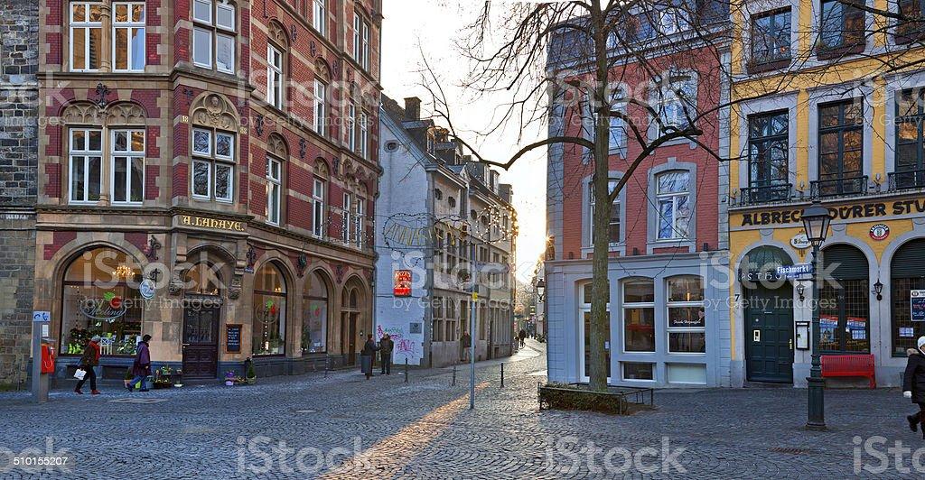 European city, Germany, Aachen stock photo
