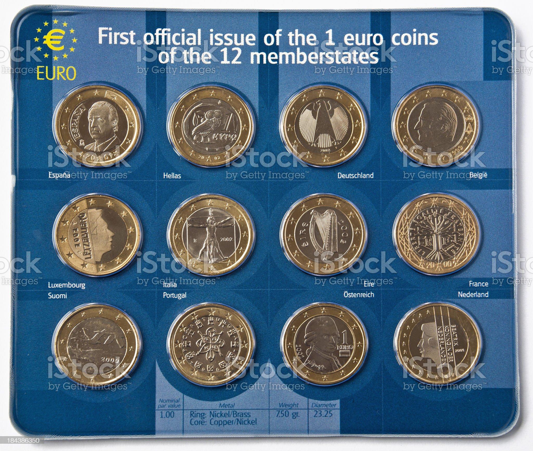 European Coins royalty-free stock photo