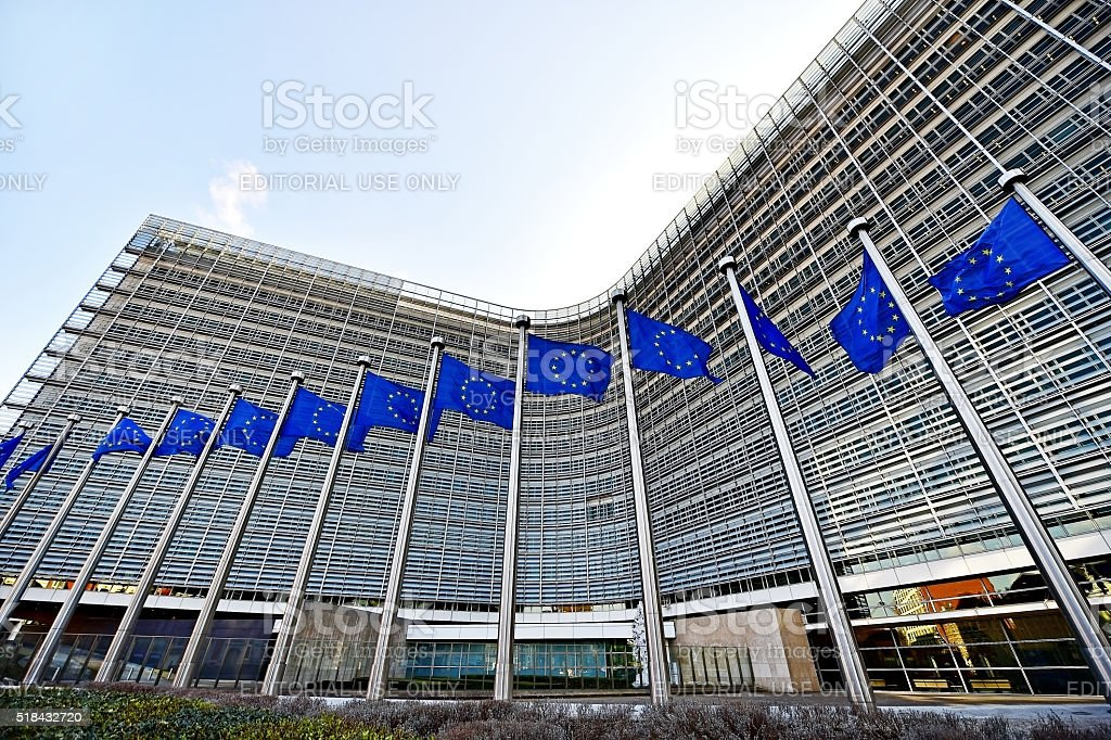 European Comission Headquarters stock photo
